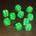 12mm Opaque Spot Dice - Green